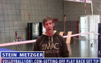 Stein Metzger Volleyball Series Setting Off Play Back Set