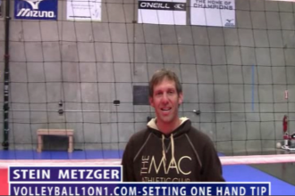 Stein Metzger Volleyball Series Setting One Hand