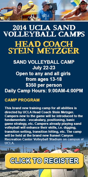 Stein Metzger Sand Volleyball Camps at UCLA