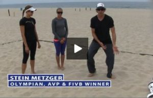 Stepping in Pairs, Stein Metzger Beach Volleyball Tip to Imporve Ball Control and Passing