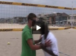 Steve Anderson Beach Volleyball Blocking