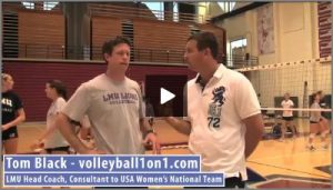 Tom Black Middle Hitter Tutor Volleyball Drills From Practice 1