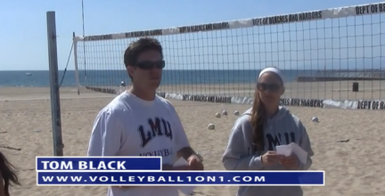 Tom Black Sand Practice Plan 1 - Sand Wave Drill with a Serve and a Virus