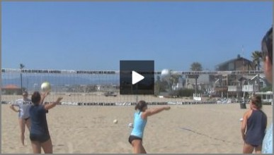 Tom Black Sand Volleyball Warm Up Drills - 1 on 1 Short Court and Off the Net Bump Setting