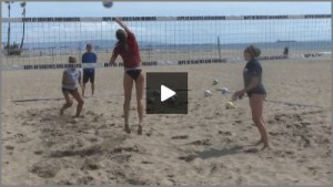 Tom Black Sand Volleyball Warm Up Drills - Blocker Pull Or Stay Up Drill From Practice 1