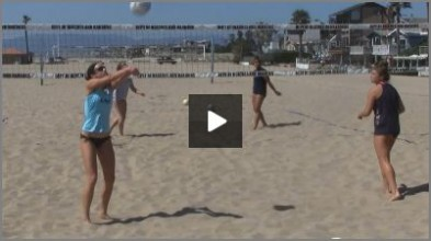 Tom Black Sand Volleyball Warm Up Drills - Off the Net Bump Setting From Sand Practice 1