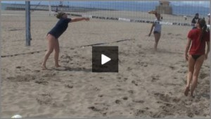 Tom Black Sand Volleyball Warm Up Drills - Off the Net Bump Setting From Sand Practice 2