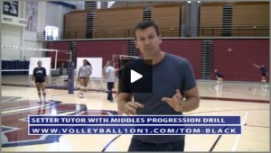 Tom Black - Setter Tutor with Middles Progression Volleyball Drill