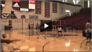 Tom Black Volleyball Practice  1 - Hitters vs. diggers and Hut to Five Drills