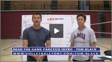 Tom Black Volleyball Practice Plan 3 - College Womens Indoor Reading the Game Practice