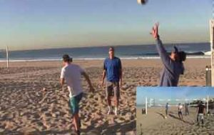 Tri-Angle-Warm-Up-Beach-Volleyball-Drill,-Focus-on-Setting-with-Anjinho-Bacil