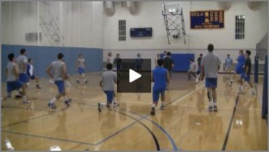UCLA Mens Volleyball Warm Up with Al Scates