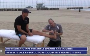 Volleyball Ankle Taping Techniques That Allow for Good Movement