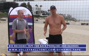 Volleyball Back Injuries – Biomechanic Tape - Bungee Tape Solution