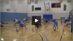 Volleyball Calisthenics With UCLA Volleyball Team