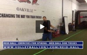 Volleyball Exercises for Spiking Harder - Med Ball Side Toss - With Reid Hall