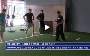 Volleyball Resisted Skip Exercise Drills