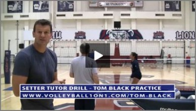Volleyball Setter Tutor Drill With Ron Larson and Tom Black