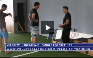 Volleyball Single Leg Step Ups Exercise Drill - Velocity Workout 1 - Linear