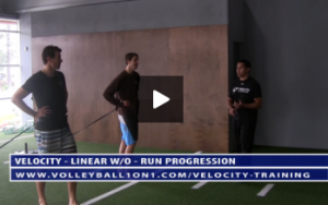 Volleyball Sled Run Progression Exercise Drills