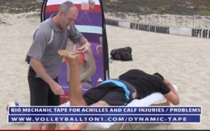 Volleyball Taping for Achilles and Calf Injuries and Problems