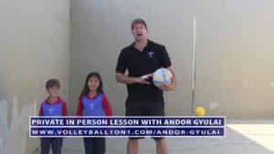 VolleyballTots---Youth-Volleyball-Passing-Private-Coaching-Lesson-Video-1-with-Andor-Gyulai-5-14-15