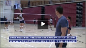 Warm Up Drill - Over the Net, Rotating 3 Defender 1 Setter Pepper with Tom Black