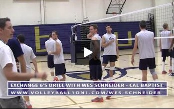 Wes Schneider - Exchange Volleyball Drill