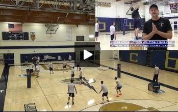 Wes Schneider - Servers vs. Passers Volleyball Drill - Round 1