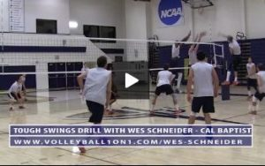 Wes Schneider - Tough Swings Volleyball Drill - Round 1