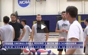 Wes Schneider - Tough Swings Volleyball Drill - Round 2