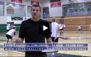 10 High, 10 Low Volleyball Defense Warm Up Drill