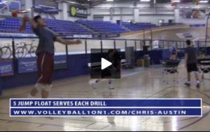 5 Rep Jump Float Serve Drill, Verbal Cues and Purpose with Chris Austin