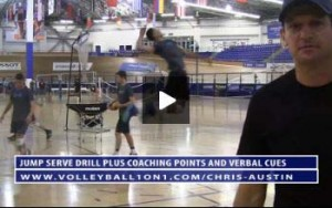 5 Rep Jump Serve Drill, Verbal Cues and Purpose with Chris Austin