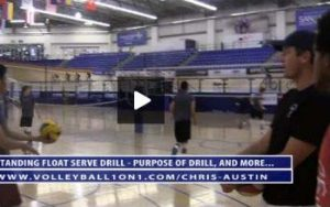 5 Rep Standing Float Serve Drill, Verbal Cues and Purpose with Chris Austin
