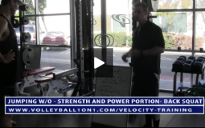Back Squat and 3 Point Row - Strength and Power Portion Workout - Velocity Workout 2 - Jump and Landing Day