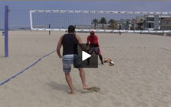Beach Volleyball Passing Technique Demonstration Video.