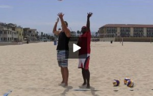 Beach Volleyball Serving with Steve Anderson - Video 3 on Toss or Address