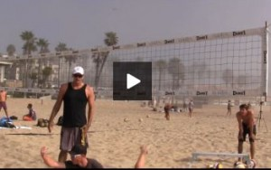 Beach Volleyball Superman Defensive Technique - Hand Down for Control