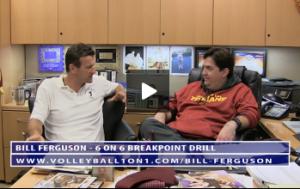 Bill Ferguson - Conversation From Office - 6 on 6 Break Point Drill