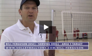 Bill Ferguson - Serving Drill - Area 1 Target