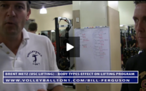 Bill Ferguson - USC Post Practice Lifting Session - Body Type Effects on Workout Program