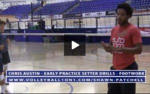 Chris Austin - Volleyball Setter Drill for Footwork Patterns and Technique