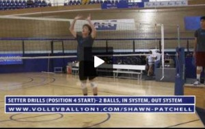 Chris Austin - Volleyball Setting Drill, 2 Balls - In System, Out System, Area 4 Start