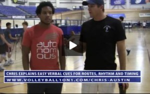 Chris Austin on Volleyball Coaching Verbal Cues for Routes, Rhythm and Timing