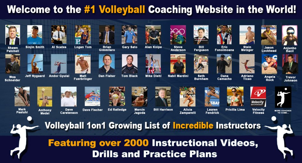 Volleyball1on1 Incredible Instructors and Coaches Videos