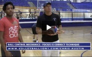 Controlled Volleyball Setting Warm Up Drill with Chris Austin