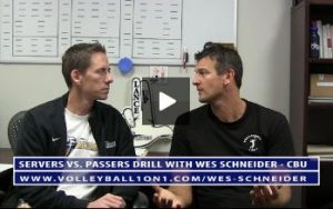 Conversations from the Office - Servers vs. Passers Volleyball Drill