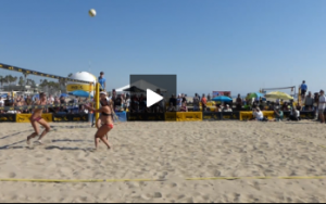 Demo Kerri Walsh and April Ross - Sideout on Line Attack Off Serve, April Spiking