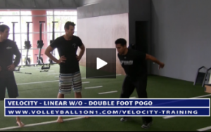 Double Foot Pogo Volleyball Exercise Drill